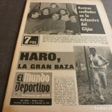 Collectionnisme sportif: (MS)MUNDO DEPORTIVO(2-12-73)HOY BARÇA-SPORTING GIJÓN,MARIANO HARO,CASZELY(LEVANTE). Lote 77571681