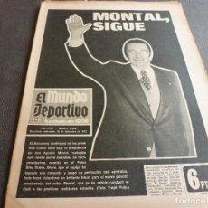 Coleccionismo deportivo: (MS)MUNDO DEPORTIVO(19-12-73)MONTAL SIGUE BARÇA,GRAN PARADA URRUTI(R.SOCIEDAD)EL BARÇA AT.. Lote 77572857