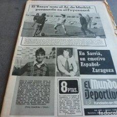 Coleccionismo deportivo: (MS)MUNDO DEPORTIVO(1-11-74)OCAÑA LIDER DEL SUPER-SER,CRUYFF,ALICIA LAISECA,BORJA(ESPAÑOL). Lote 77906541