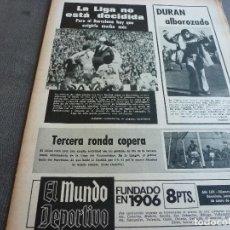 Coleccionismo deportivo: (MS)MUNDO DEPORTIVO(9-1-75)REAL ZARAGOZA,LIS(SABADELL)BARÇA Y LIGA,L.PALMAS,MOCEDADES.. Lote 77907677