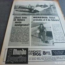 Coleccionismo deportivo: (MS)MUNDO DEPORTIVO(23-1-75)NORBERTO SANTOS(BARÇA AT.) CELTA DE VIGO,HEREDIA(BARÇA). Lote 77908229