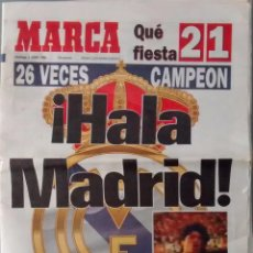 Coleccionismo deportivo: DIARIO MARCA, REAL MADRID CAMPEON DE LIGA 94-95 - ALIRON 1994/1995 ZAMORANO - DEPORTIVO. Lote 78032045