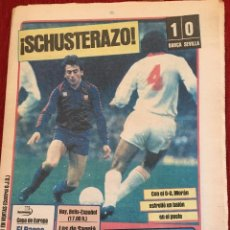 Colecionismo desportivo: PERIODICO DIARIO SPORT 1983 SCHUSTER BARCELONA 1-0 SEVILLA SUPERCOPA ANDERLECHT LIVERPOOL. Lote 78036601