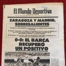 Coleccionismo deportivo: PERIODICO DIARIO MUNDO DEPORTIVO 31/11/1983 REAL MADRID 5-0 ATLETICO MADRID BARCELONA ESPANYOL. Lote 78040109