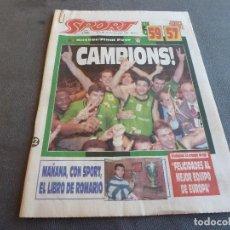 Colecionismo desportivo: (MS)SPORT(22-4-94)BASKET!!JUVENTUD BADALONA 59 OLYMPIAKOS 57!!!CAMPEONES DE EUROPA!!!!. Lote 78049049