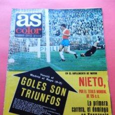 Coleccionismo deportivo: REVISTA AS COLOR Nº 356 1978 SUPLEMENTO MOTOR ANGEL NIETO-SOLSONA RCD ESPAÑOL-LEIVINHA-LIGA 77/78. Lote 78111329