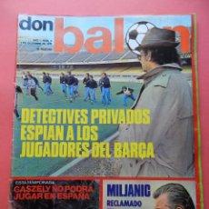 Coleccionismo deportivo: REVISTA DON BALON 1975 Nº 9 POSTER CARICATURAS REAL MADRID 75/76-RUBEN CANO-HERCULES CF-BARÇA. Lote 78148825