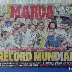 Coleccionismo deportivo: MARCA, (EL REAL MADRID CAMPEÓN DEL MUNDIALITO), LUNES 19 DE DICIEMBRE DE 2016... Lote 78266665