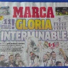 Coleccionismo deportivo: MARCA, REAL MADRID (11 COPAS DE EUROPA), DOMINGO 29 DE MAYO DE 2016. GLORIA INTERMINABLE.. Lote 78268293