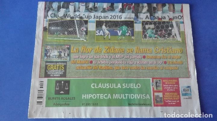Coleccionismo deportivo: AS, EL REAL MADRID PENTACAMPEÓN DEL MUNDO, LUNES 19 DE DICIEMBRE DE 2016. - Foto 4 - 78269897