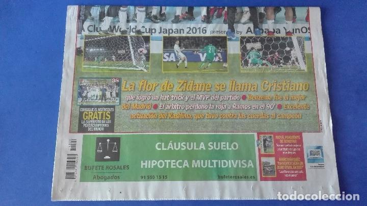 Coleccionismo deportivo: AS, EL REAL MADRID PENTACAMPEÓN DEL MUNDO, LUNES 19 DE DICIEMBRE DE 2016. - Foto 5 - 78269897