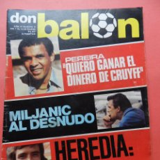 Coleccionismo deportivo: REVISTA DON BALON 1977 Nº 74 MILJANIC REAL MADRID-HEREDIA BARÇA 76/77-RC CELTA VIGO BALAIDOS-MALAGA. Lote 78806889