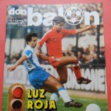 Colecionismo desportivo: REVISTA DON BALON 1977 Nº 109 LOPEZ UFARTE REAL SOCIEDAD 77/78-UD LAS PALMAS BRINDISI. Lote 78826157