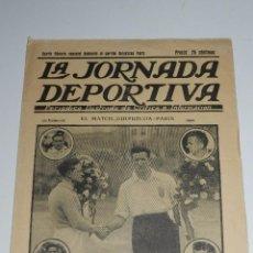 Coleccionismo deportivo: (M) REVISTA LA JORNADA DEPORTIVA - CUARTO NUMERO DEDICADO AL PARTIDO GUIPUZCOA - PARIS. Lote 79048437