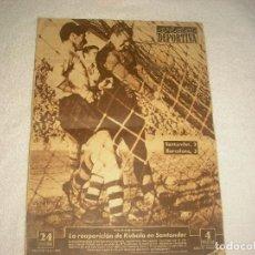 Coleccionismo deportivo: VIDA DEPORTIVA . FEBRERO 1953 , N° 389 EN PORTADA REAPARICIÓN DE KUBALA EN SANTANDER. Lote 79956125