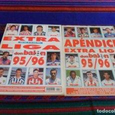Coleccionismo deportivo: DON BALÓN EXTRA LIGA 95 96 CON APÉNDICE. Nº 30. 950 PTS. MUY BUEN ESTADO.. Lote 80465593