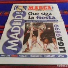 Coleccionismo deportivo: MARCA SUPLEMENTO GRATUITO REAL MADRID LIGA 98 99 1998 1999. QUE SIGA LA FIESTA. 12 PGNS.. Lote 80473517