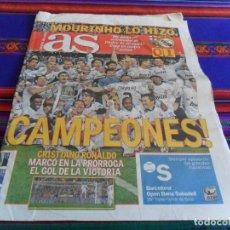 Colecionismo desportivo: AS REAL MADRID CAMPEÓN COPA DEL REY 2011 FRENTE F.C. BARCELONA 1-0. 21 ABRIL 2011.. Lote 80474497