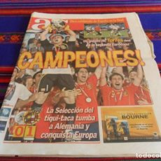 Coleccionismo deportivo: AS Nº 13623 ESPAÑA CAMPEONA EUROCOPA EUROPA 2008. 30 JUNIO 2008. . Lote 80475029