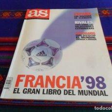 Coleccionismo deportivo: AS GRAN LIBRO DEL MUNDIAL FÚTBOL FRANCIA 98 1998. REGALO ABC FRANCE 98 EL ÚLTIMO DEL MILENIO.. Lote 80478097