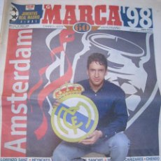 Coleccionismo deportivo: MARCA 20 MAYO 1998: ESPECIAL FINAL CHAMPIONS LEAGUE COPA EUROPA JUVENTUS REAL MADRID. Lote 80602686