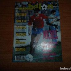 Coleccionismo deportivo: DON BALON Nº 754 COLOR ESPAÑA VS AUSTRIA POSTER FERNANDO VALENCIA MILLA BARCELONA MICHEL REAL MADRID. Lote 80765914