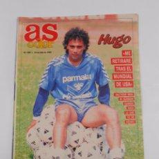 Coleccionismo deportivo: REVISTA AS COLOR Nº 180. 23 DE JULIO DE 1989. HUGO SANCHEZ. TDKR34. Lote 81933616