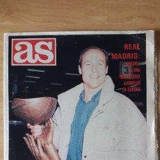 Coleccionismo deportivo: REVISTA AS - REAL MADRID BALONCESTO CAMPEON DE COPA CORAK 1988 - INCLUYE POSTER CENTRAL - VER FOTOS. Lote 82075560