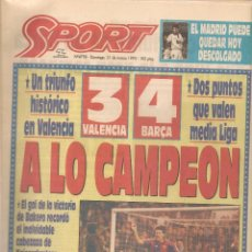 Collectionnisme sportif: SPORT. Nº 4798. DOMINGO, 21 MARZO 1993. (B/57). Lote 82170432