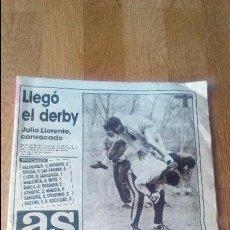 Coleccionismo deportivo: LLEGO EL. DERBY PERIODICO AS 38 PAGINAS BARCELONA CAMPEON DE KORAC. Lote 82317860