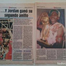 Coleccionismo deportivo: MICHAEL JORDAN - INFORMACIÓN SPORT 2º ANILLO CAMPEÓN NBA CHICAGO BULLS 1992. Lote 82914068