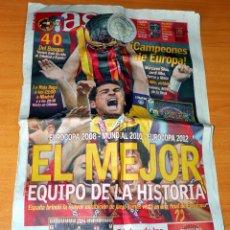 Coleccionismo deportivo: DIARIO AS - Nº 15062 - SELECCIÓN DE ESPAÑA CAMPEONA DE EUROPA AÑO 2012 - ESPAÑA 4 - ITALIA 0. Lote 83551620
