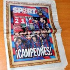 Coleccionismo deportivo: DIARIO DEPORTIVO SPORT - Nº 9562: 2ª COPA DE EUROPA DEL FC BARCELONA, BARÇA 2 - ARSENAL 1 - AÑO 2006. Lote 83561216