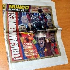 Coleccionismo deportivo: DIARIO MUNDO DEPORTIVO - Nº 28041 - BARÇA CAMPEÓN DE EUROPA - BARCELONA 2 - MANCHESTER 0 - AÑO 2009. Lote 83561716
