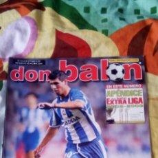 Coleccionismo deportivo: DON BALÓN NÚMERO 1405 APENDICE LIGA 02/03 POSTER RONALDO REAL MADRID. Lote 83700544