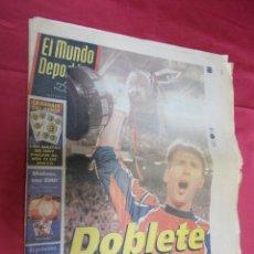 Coleccionismo deportivo: EL MUNDO DEPORTIVO. Nº 24.028. 30 ABRIL 1998. DOBLETE HISTÓRICO.. Lote 84173780