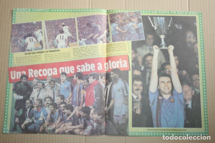 POSTER SPORT BARCELONA CAMPEÓN RECOPA 1989 (Coleccionismo Deportivo - Revistas y Periódicos - Sport)