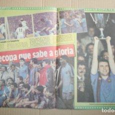 Coleccionismo deportivo: POSTER SPORT BARCELONA CAMPEÓN RECOPA 1989. Lote 84265028