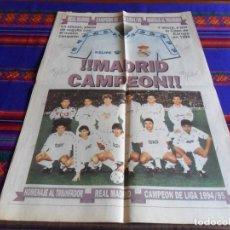 Coleccionismo deportivo: MARCA SUPLEMENTO ALIRÓN REAL MADRID 1994 1995 94 95. CAMPEÓN DE LIGA Nº 26. . Lote 84322672
