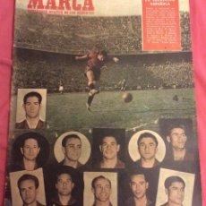 Coleccionismo deportivo: SEMANARIO MARCA.3-JUNIO-1952. N-496. VICTORIA DE ESPAÑA SOBRE IRLANDA. Lote 84706484