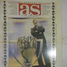 Coleccionismo deportivo: DIARIO AS, 29 MAYO 2001, CAMPEÓN LIGA PRIMERA DEL SIGLO XXI, REAL MADRID, LA PRIMERA DE FLORENTINO. Lote 84833956