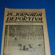 Coleccionismo deportivo: LA JORNADA DEPORTIVA 24 NOVIEMBRE 1922 - PORTADA RACING CLUB DE BRUSELAS PORTERO DEBIE. Lote 84908740