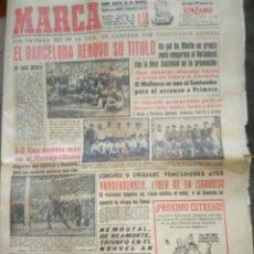 Coleccionismo deportivo: MARCA DIARIO GRÁFICO DE LOS DEPORTES 18 ABRIL 1960 EL BARCELONA RENOVO SU TÍTULO AZULGRANA LIGA. Lote 85222994