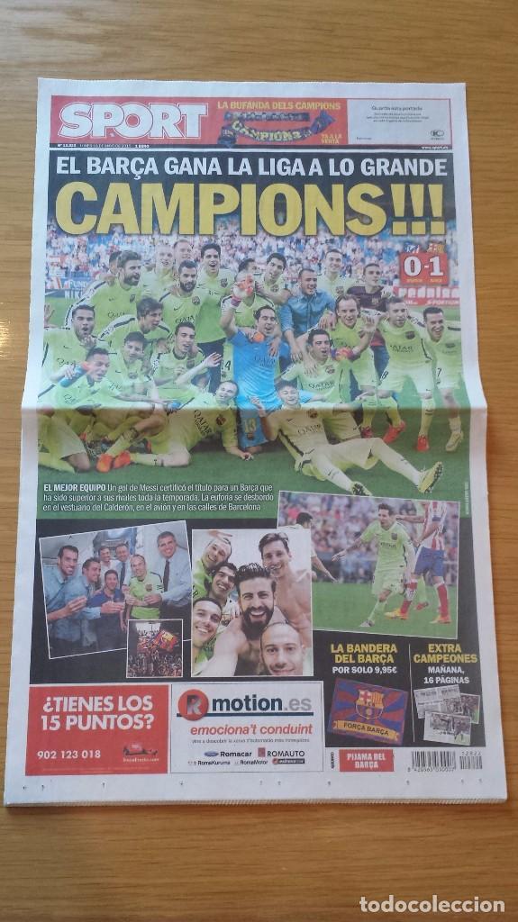 SPORT [18 DE MAYO DE 2015][NÚMERO 12.822][BARÇA, CAMPEÓN DE LA LIGA 2014/15 EN EL CALDERÓN] (Coleccionismo Deportivo - Revistas y Periódicos - Sport)
