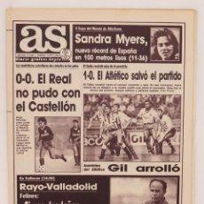 Colecionismo desportivo: AS. DIARIO GRAFICO DEPORTIVO 6865. SANDRA MYERS RECORD DE ESPAÑA 100M. 10 SEP 1989. Lote 85642132