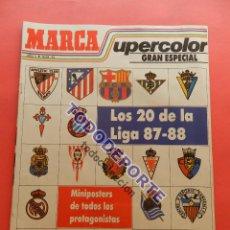 Collectionnisme sportif: DIARIO MARCA SUPERCOLOR EXTRA LIGA 87/88 GRAN ESPECIAL GUIA 1987/1988 POSTER ALEMAO ATLETI. Lote 85757472