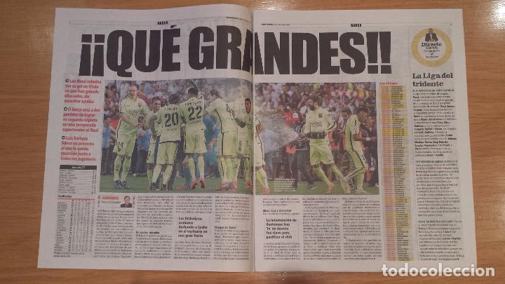 Coleccionismo deportivo: Mundo Deportivo [18 de mayo de 2015][Número 30.204][Barça, campeón de Liga 2014/15 en el Calderón] - Foto 3 - 85835620