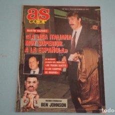 Coleccionismo deportivo: REVISTA AS COLOR MARTIN VAZQUEZ BEN JOHNSON ALVAREZ DEL MANZANO VOTAVA MARK PHILIPS Nº 307. Lote 86098124