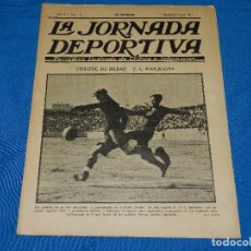 Coleccionismo deportivo: (M) LA JORNADA DEPORTIVAAÑO II NUM 36 , JUNIO 1922 , PORTADA ATH BILBAO - FC BARCELONA . Lote 86376400