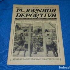 Coleccionismo deportivo: LA JORNADA DEPORTIVA AÑO II NUM 14 ,9 ENERO 1922 PORTADA UNION ZIZCOV - FC BARCELONA, RICARDO ZAMORA. Lote 86376904